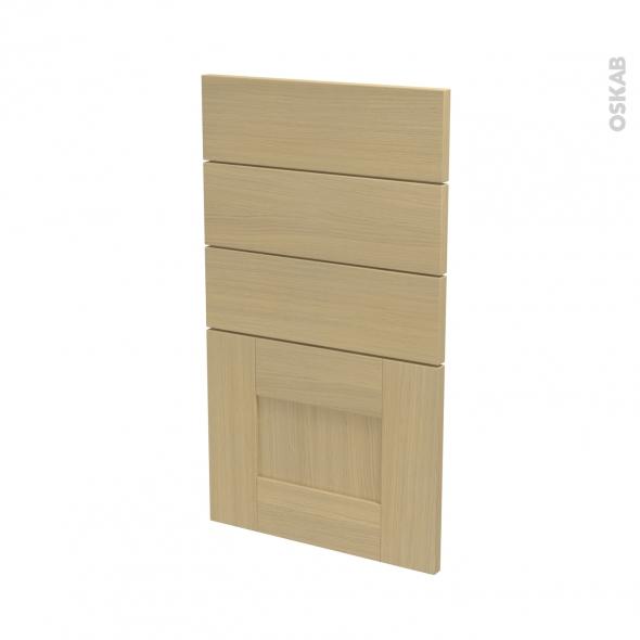 BASILIT Bois Vernis - façade N°53 4 tiroirs - L40xH70