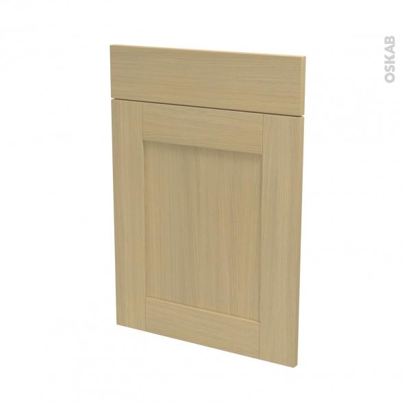 BASILIT Bois Vernis - façade N°54 1 porte 1 tiroir - L50xH70