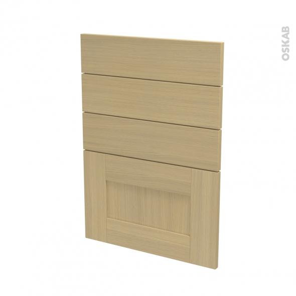 BASILIT Bois Vernis - façade N°55 4 tiroirs - L50xH70