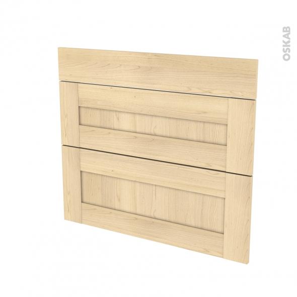 BETULA Bouleau - façade N°74 3 tiroirs - L80xH70