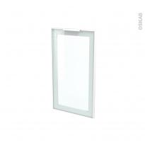 SOKLEO - Façade blanche alu vitrée avec poignée - Porte N°19 - L40xH70