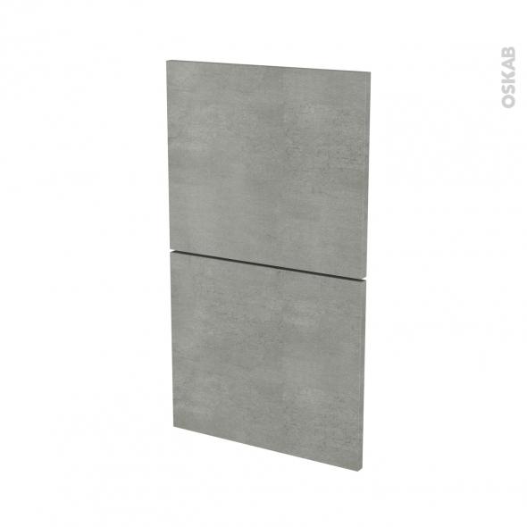 Façades de cuisine - 2 tiroirs N°52 - FAKTO Béton - L40 x H70 cm