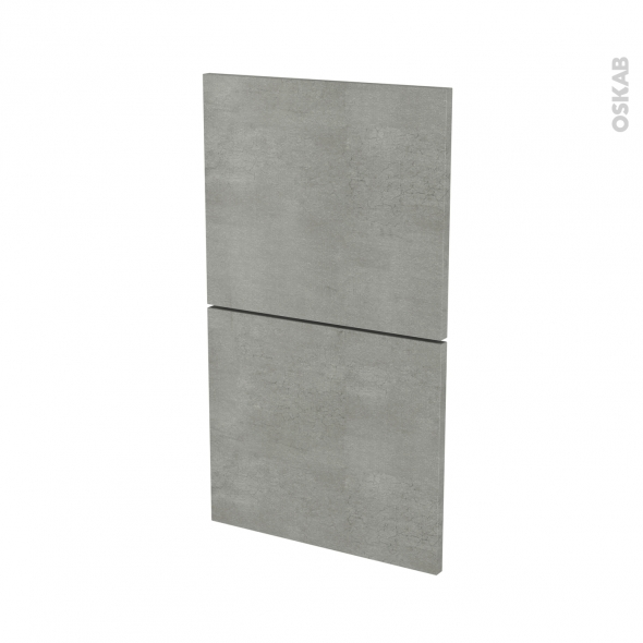 FAKTO Béton - façade N°52  2 tiroirs - L40xH70
