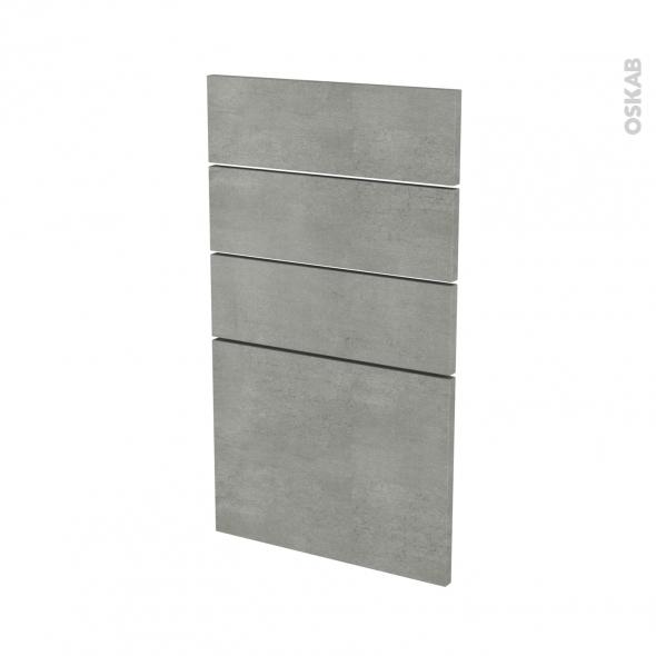 Façades de cuisine - 4 tiroirs N°53 - FAKTO Béton - L40 x H70 cm