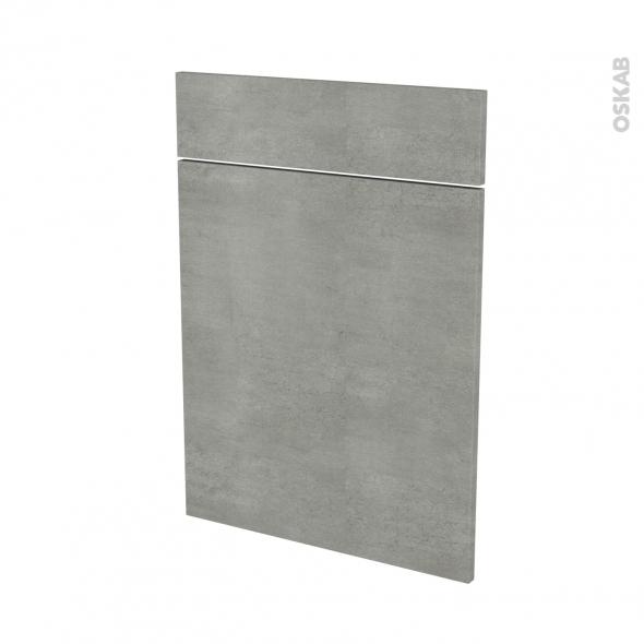 Façades de cuisine - 1 porte 1 tiroir N°54 - FAKTO Béton - L50 x H70 cm