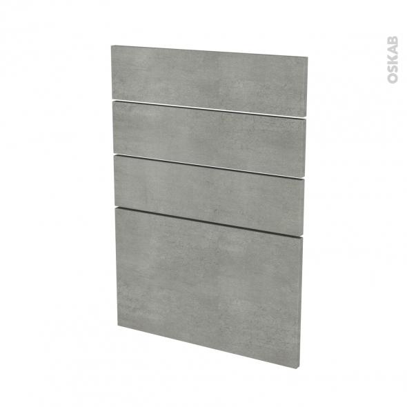 FAKTO Béton - façade N°55 4 tiroirs - L50xH70