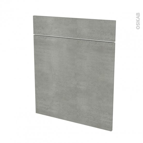 Façades de cuisine - 1 porte 1 tiroir N°56 - FAKTO Béton - L60 x H70 cm