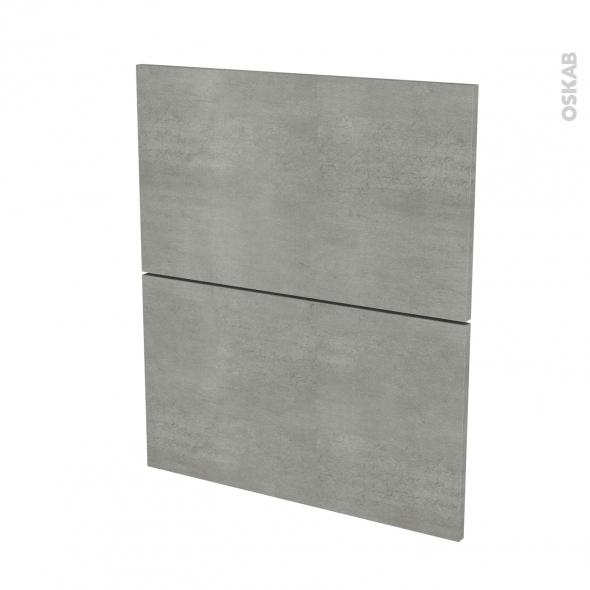 FAKTO Béton - façade N°57 2 tiroirs - L60xH70
