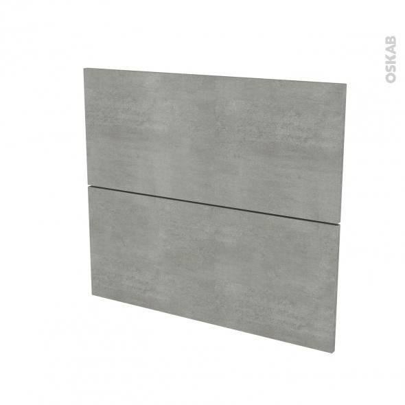 Façades de cuisine - 2 tiroirs N°60 - FAKTO Béton - L80 x H70 cm