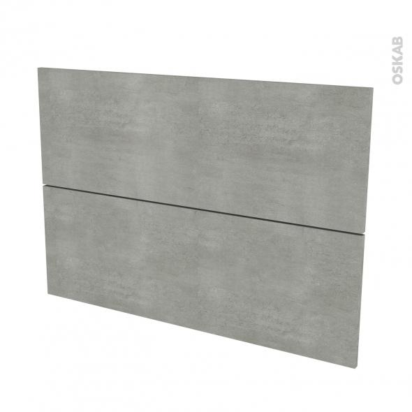 Façades de cuisine - 2 tiroirs N°61 - FAKTO Béton - L100 x H70 cm