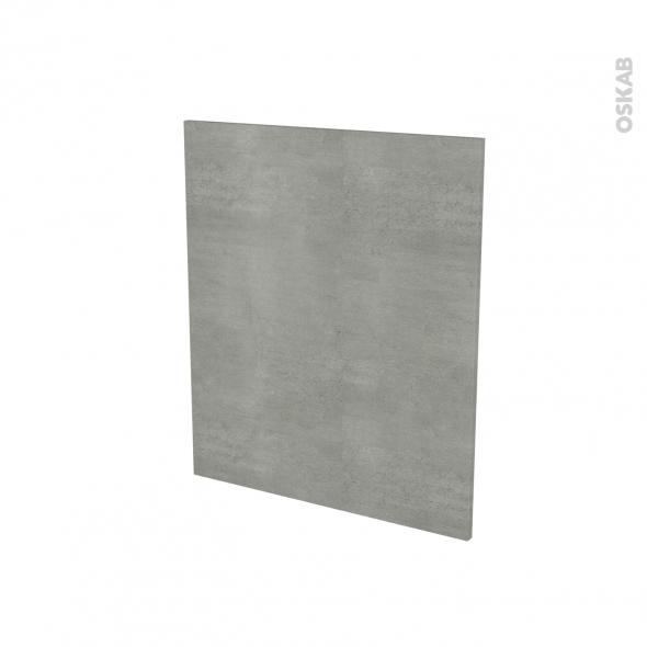 Porte lave vaiselle - Full intégrable N°21 - FAKTO Béton - L60 x H70 cm