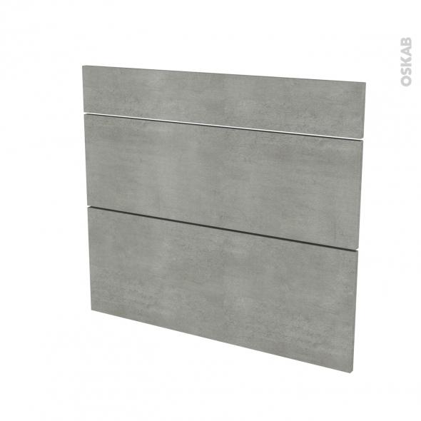Façades de cuisine - 3 tiroirs N°74 - FAKTO Béton - L80 x H70 cm