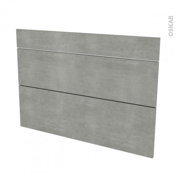 Façades de cuisine - 3 tiroirs N°75 - FAKTO Béton - L100 x H70 cm