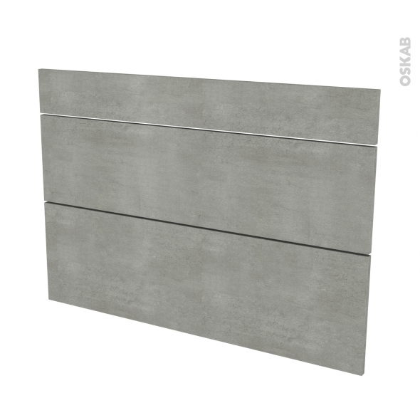 FAKTO Béton - façade N°75 3 tiroirs - L100xH70