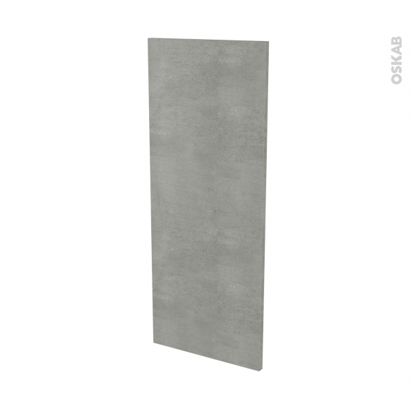 Finition cuisine - Joue N°32 - FAKTO Béton - Avec sachet de fixation - L37 x H92 x Ep.1.6 cm
