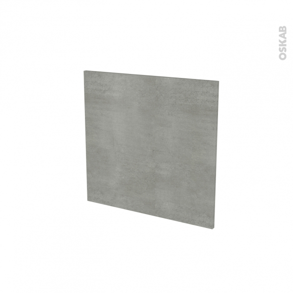 Porte lave vaiselle - Intégrable N°16 - FAKTO Béton - L60 x H57 cm