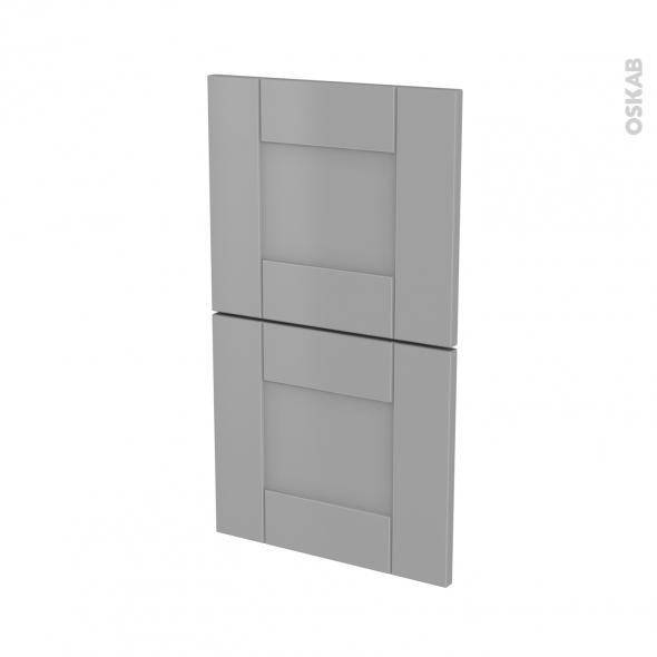 Façades de cuisine - 2 tiroirs N°52 - FILIPEN Gris - L40 x H70 cm