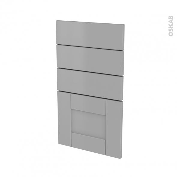 Façades de cuisine - 4 tiroirs N°53 - FILIPEN Gris - L40 x H70 cm