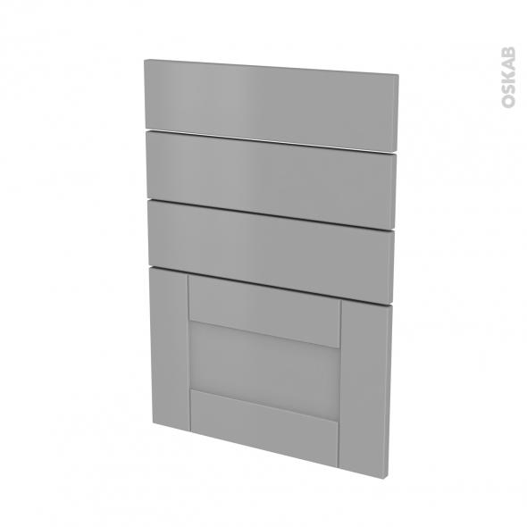 Façades de cuisine - 4 tiroirs N°55 - FILIPEN Gris - L50 x H70 cm