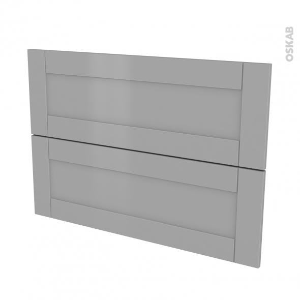 Façades de cuisine - 2 tiroirs N°61 - FILIPEN Gris - L100 x H70 cm