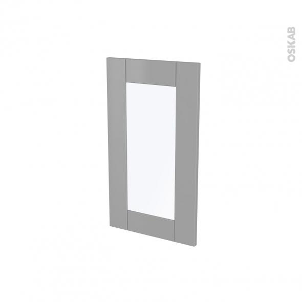 Façades de cuisine - Porte N°83 vitré - FILIPEN Gris - L40 x H70 cm