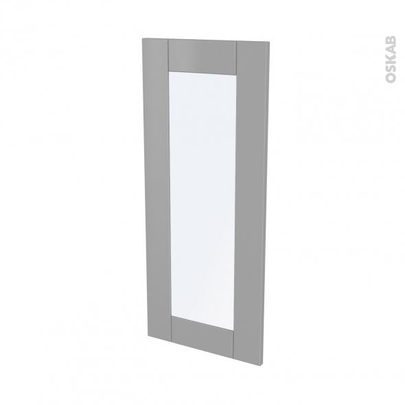 Façades de cuisine - Porte N°84 vitré - FILIPEN Gris - L40 x H92 cm