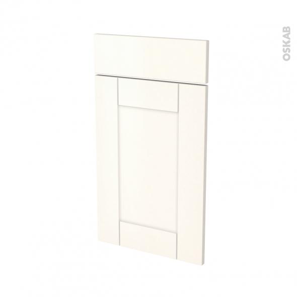 Façades de cuisine - 1 porte 1 tiroir N°51 - FILIPEN Ivoire - L40 x H70 cm