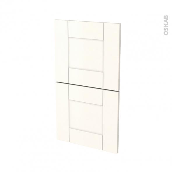 Façades de cuisine - 2 tiroirs N°52 - FILIPEN Ivoire - L40 x H70 cm