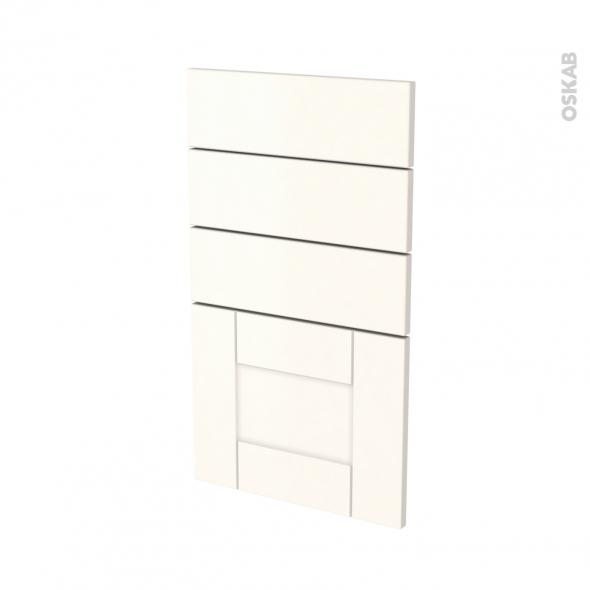 Façades de cuisine - 4 tiroirs N°53 - FILIPEN Ivoire - L40 x H70 cm