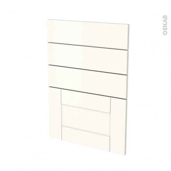 Façades de cuisine - 4 tiroirs N°55 - FILIPEN Ivoire - L50 x H70 cm