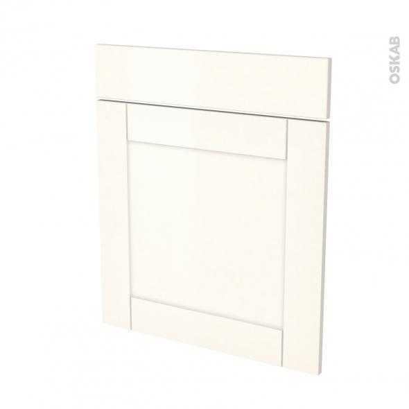 Façades de cuisine - 1 porte 1 tiroir N°56 - FILIPEN Ivoire - L60 x H70 cm