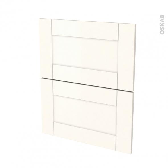 Façades de cuisine - 2 tiroirs N°57 - FILIPEN Ivoire - L60 x H70 cm