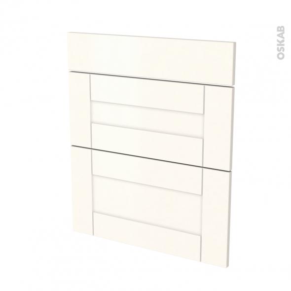 Façades de cuisine - 3 tiroirs N°58 - FILIPEN Ivoire - L60 x H70 cm