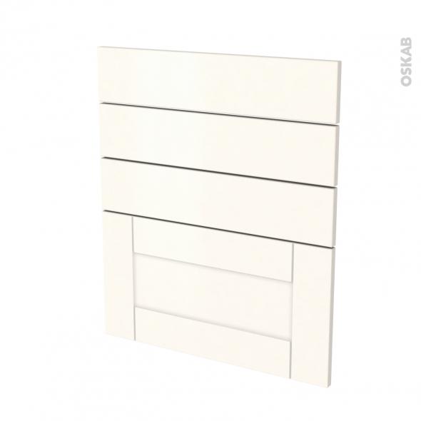 Façades de cuisine - 4 tiroirs N°59 - FILIPEN Ivoire - L60 x H70 cm