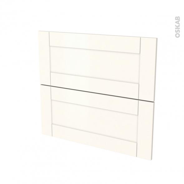 Façades de cuisine - 2 tiroirs N°60 - FILIPEN Ivoire - L80 x H70 cm