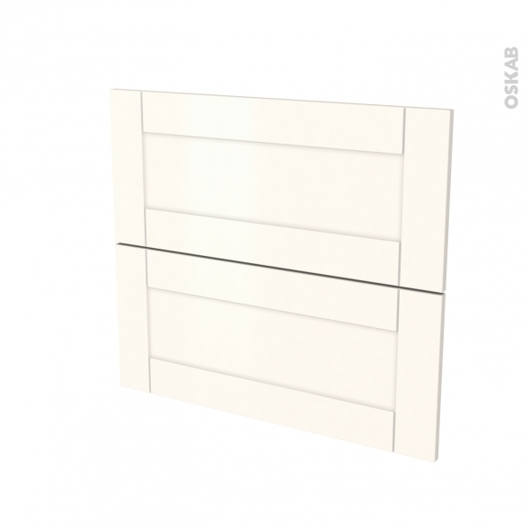 FILIPEN Ivoire - façade N°60 2 tiroirs - L80xH70