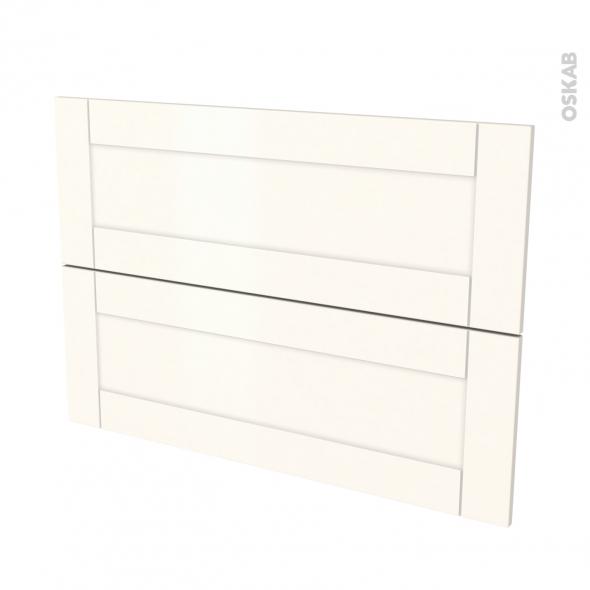 Façades de cuisine - 2 tiroirs N°61 - FILIPEN Ivoire - L100 x H70 cm