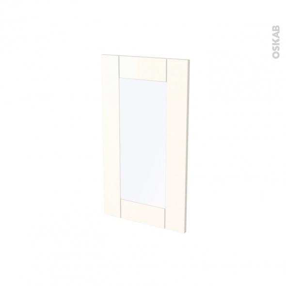 Façades de cuisine - Porte N°83 vitré - FILIPEN Ivoire - L40 x H70 cm