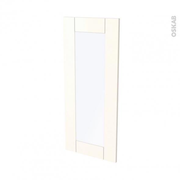Façades de cuisine - Porte N°84 vitré - FILIPEN Ivoire - L40 x H92 cm