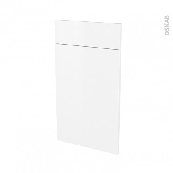 Façades de cuisine - 1 porte 1 tiroir N°51 - GINKO Blanc - L40 x H70 cm