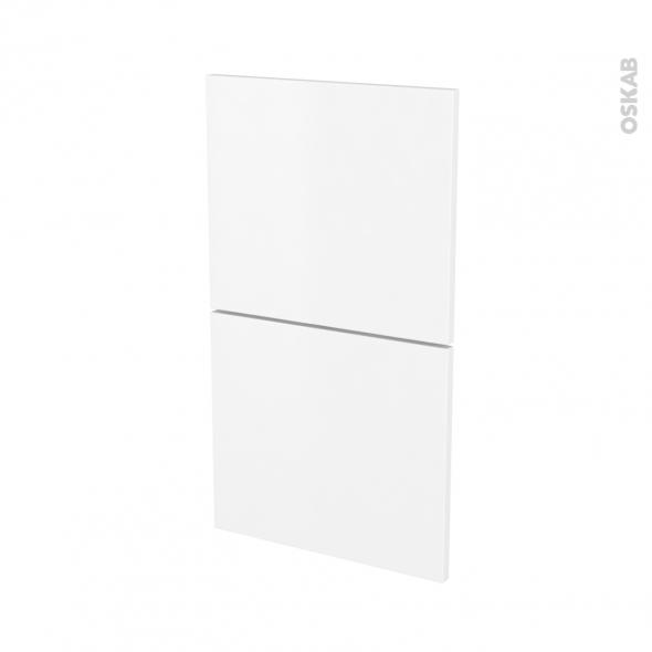 Façades de cuisine - 2 tiroirs N°52 - GINKO Blanc - L40 x H70 cm