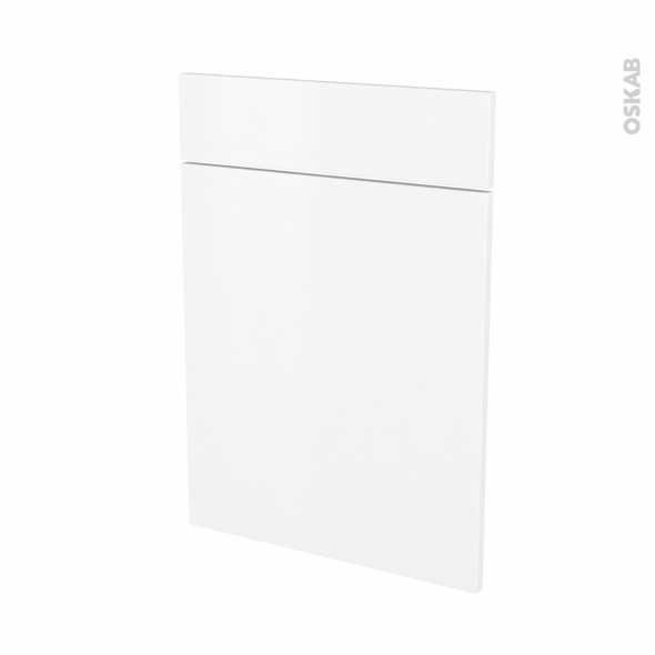 Façades de cuisine - 1 porte 1 tiroir N°54 - GINKO Blanc - L50 x H70 cm