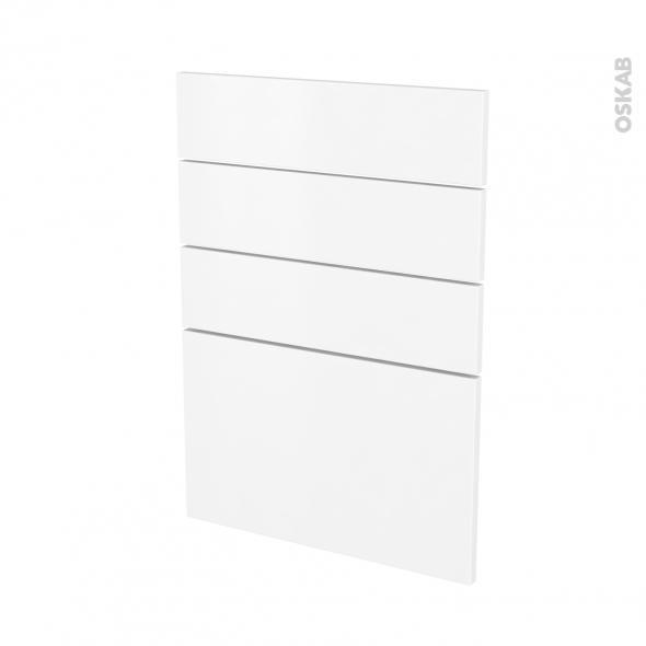 Façades de cuisine - 4 tiroirs N°55 - GINKO Blanc - L50 x H70 cm