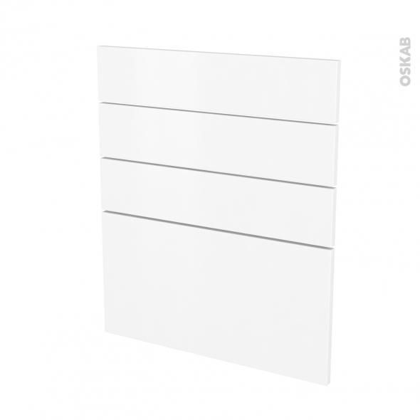 Façades de cuisine - 4 tiroirs N°59 - GINKO Blanc - L60 x H70 cm