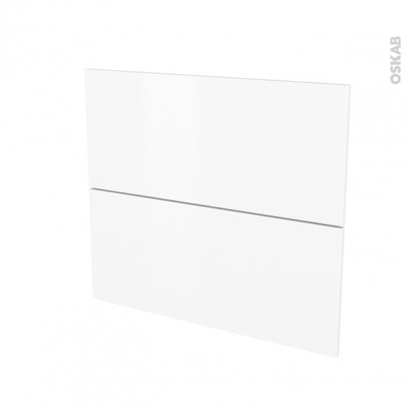 Façades de cuisine - 2 tiroirs N°60 - GINKO Blanc - L80 x H70 cm