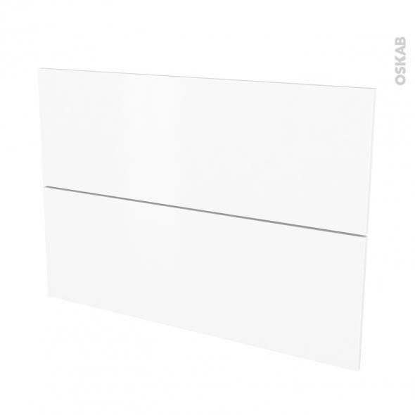 Façades de cuisine - 2 tiroirs N°61 - GINKO Blanc - L100 x H70 cm