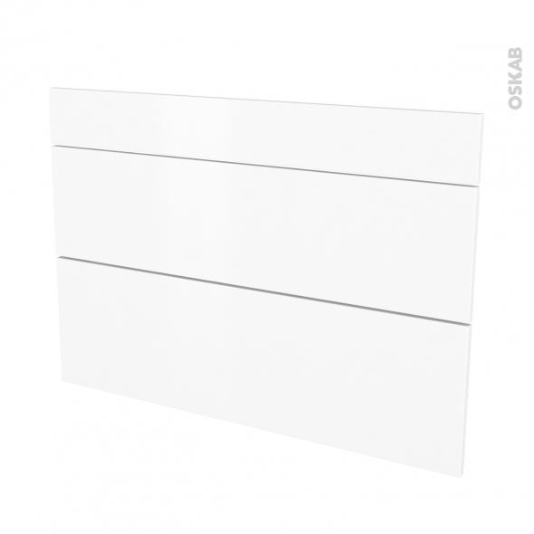 Façades de cuisine - 3 tiroirs N°75 - GINKO Blanc - L100 x H70 cm