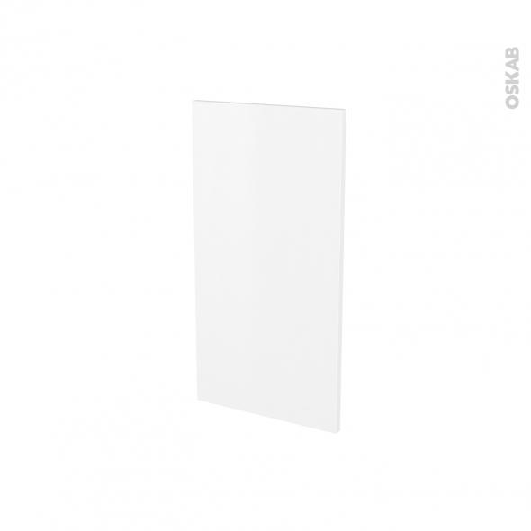 Finition cuisine - Joue N°30 - GINKO Blanc - Avec sachet de fixation - A redécouper - L37 x H41 x Ep.1.6 cm