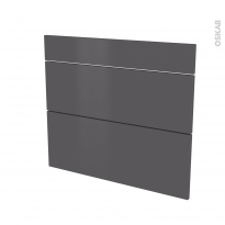Façades de cuisine - 3 tiroirs N°74 - GINKO Gris - L80 x H70 cm