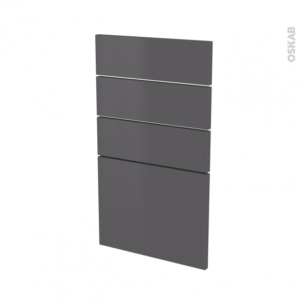 Façades de cuisine - 4 tiroirs N°53 - GINKO Gris - L40 x H70 cm